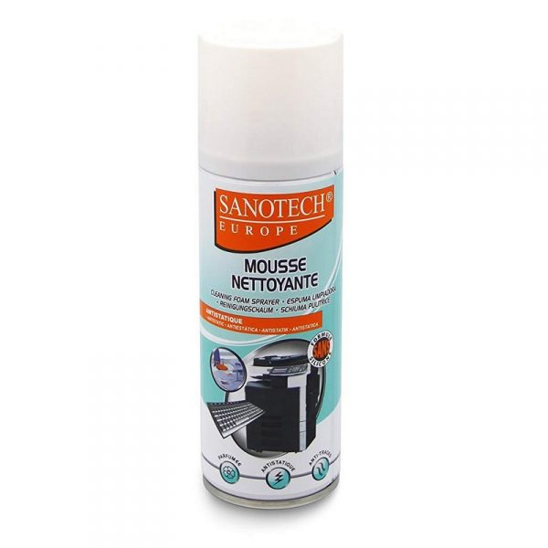 Mousse nettoyante antistatique